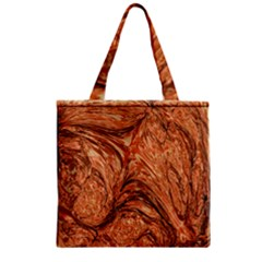 3d Glass Frame With Fractal Background Zipper Grocery Tote Bag