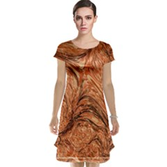 3d Glass Frame With Fractal Background Cap Sleeve Nightdress