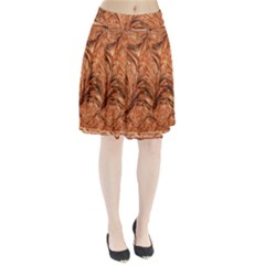 3d Glass Frame With Fractal Background Pleated Skirt