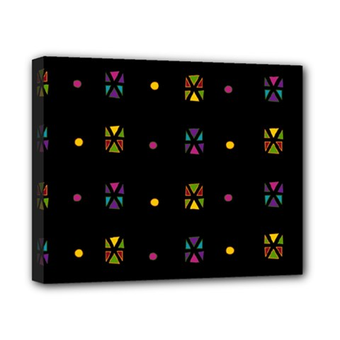 Abstract A Colorful Modern Illustration Black Background Canvas 10  x 8
