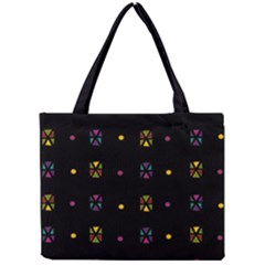 Abstract A Colorful Modern Illustration Black Background Mini Tote Bag