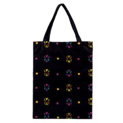 Abstract A Colorful Modern Illustration Black Background Classic Tote Bag