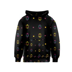 Abstract A Colorful Modern Illustration Black Background Kids  Pullover Hoodie