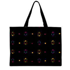 Abstract A Colorful Modern Illustration Black Background Zipper Mini Tote Bag
