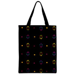 Abstract A Colorful Modern Illustration Black Background Zipper Classic Tote Bag