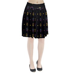 Abstract A Colorful Modern Illustration Black Background Pleated Skirt