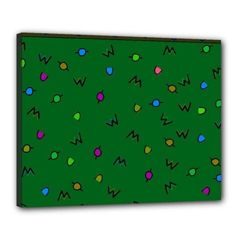 Green Abstract A Colorful Modern Illustration Canvas 20  X 16