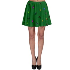Green Abstract A Colorful Modern Illustration Skater Skirt