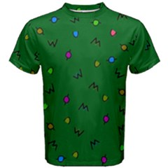 Green Abstract A Colorful Modern Illustration Men s Cotton Tee