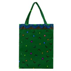 Green Abstract A Colorful Modern Illustration Classic Tote Bag