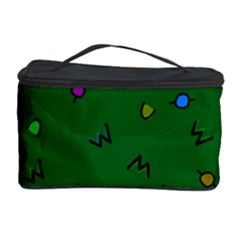 Green Abstract A Colorful Modern Illustration Cosmetic Storage Case