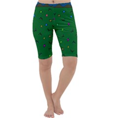 Green Abstract A Colorful Modern Illustration Cropped Leggings