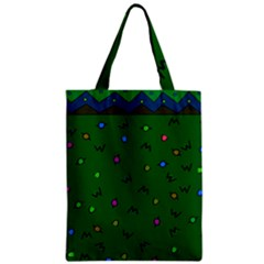 Green Abstract A Colorful Modern Illustration Zipper Classic Tote Bag