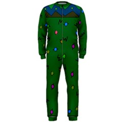 Green Abstract A Colorful Modern Illustration OnePiece Jumpsuit (Men)