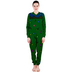 Green Abstract A Colorful Modern Illustration OnePiece Jumpsuit (Ladies)