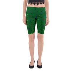 Green Abstract A Colorful Modern Illustration Yoga Cropped Leggings