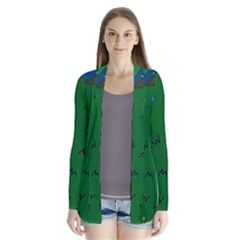 Green Abstract A Colorful Modern Illustration Cardigans