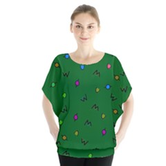Green Abstract A Colorful Modern Illustration Blouse