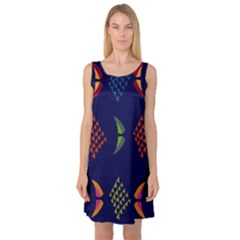 Abstract A Colorful Modern Illustration Sleeveless Satin Nightdress