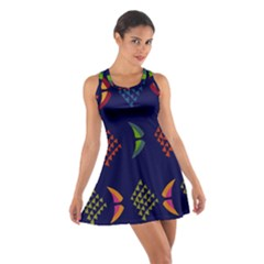 Abstract A Colorful Modern Illustration Cotton Racerback Dress