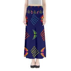 Abstract A Colorful Modern Illustration Maxi Skirts