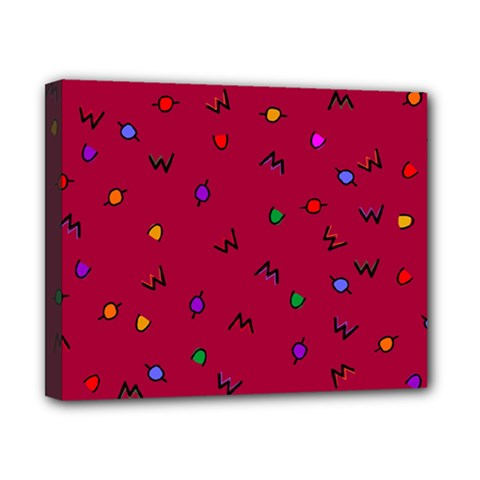 Red Abstract A Colorful Modern Illustration Canvas 10  X 8