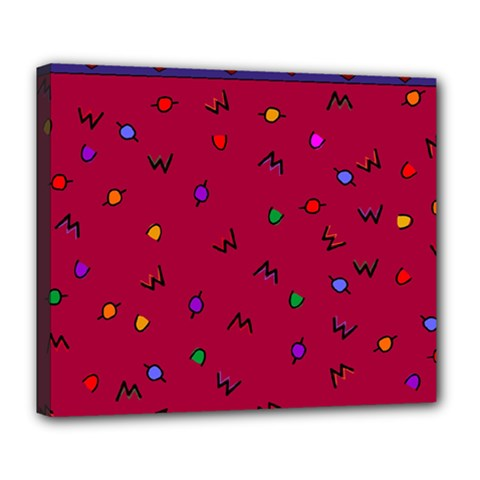 Red Abstract A Colorful Modern Illustration Deluxe Canvas 24  x 20