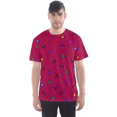 Red Abstract A Colorful Modern Illustration Men s Sport Mesh Tee