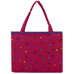 Red Abstract A Colorful Modern Illustration Mini Tote Bag