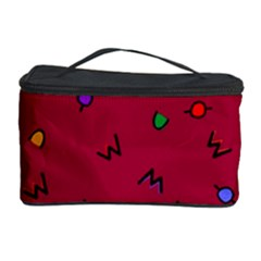 Red Abstract A Colorful Modern Illustration Cosmetic Storage Case
