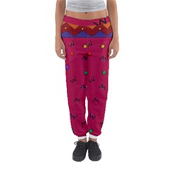 Red Abstract A Colorful Modern Illustration Women s Jogger Sweatpants
