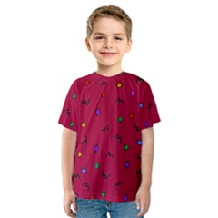 Red Abstract A Colorful Modern Illustration Kids  Sport Mesh Tee