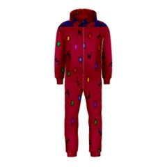 Red Abstract A Colorful Modern Illustration Hooded Jumpsuit (kids)