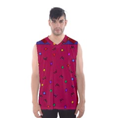 Red Abstract A Colorful Modern Illustration Men s Basketball Tank Top