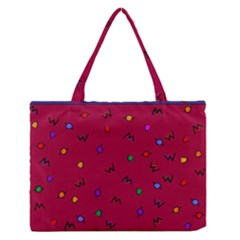 Red Abstract A Colorful Modern Illustration Medium Zipper Tote Bag