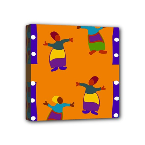 A Colorful Modern Illustration For Lovers Mini Canvas 4  x 4