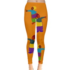 A Colorful Modern Illustration For Lovers Leggings
