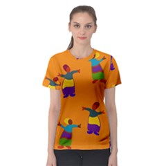 A Colorful Modern Illustration For Lovers Women s Sport Mesh Tee