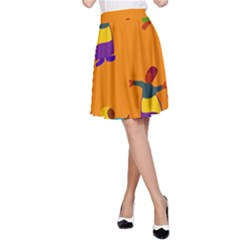 A Colorful Modern Illustration For Lovers A Line Skirt