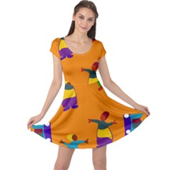 A Colorful Modern Illustration For Lovers Cap Sleeve Dresses