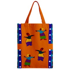 A Colorful Modern Illustration For Lovers Zipper Classic Tote Bag