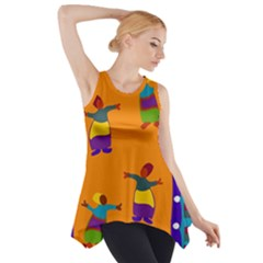 A Colorful Modern Illustration For Lovers Side Drop Tank Tunic