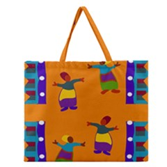 A Colorful Modern Illustration For Lovers Zipper Large Tote Bag