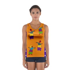 A Colorful Modern Illustration For Lovers Women s Sport Tank Top