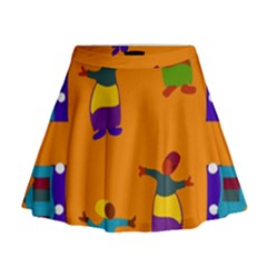 A Colorful Modern Illustration For Lovers Mini Flare Skirt