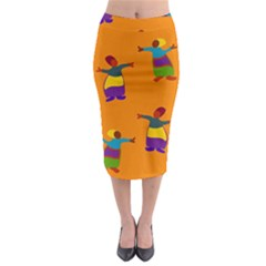 A Colorful Modern Illustration For Lovers Midi Pencil Skirt
