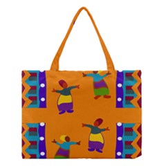 A Colorful Modern Illustration For Lovers Medium Tote Bag