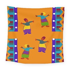 A Colorful Modern Illustration For Lovers Square Tapestry (large)