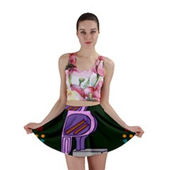 Owl A Colorful Modern Illustration For Lovers Mini Skirt