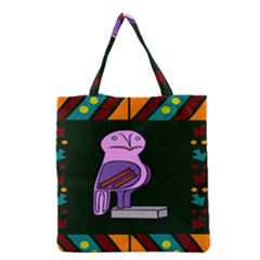 Owl A Colorful Modern Illustration For Lovers Grocery Tote Bag